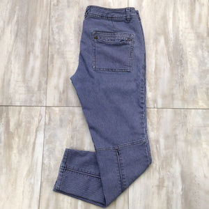 "Free People Striped Jeans 29 (inseam 27"")"